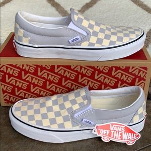 VANS CLASSIC SLIP ON CHECKERBOARD GREY DAWN/ WMNS